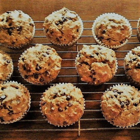 Yogurt Banana Oat Muffins